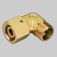 2D9 90°METRIC FEMALE 24°/ METRIC MALE 24° heavy type metric thread hose fitting